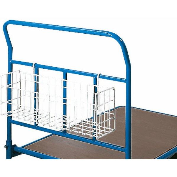 Aus alufarbigem Stahldraht   HxBxT 200 x 140 x 600 mmDrahtkorb für Kleinteile für Cash-'n'-Carry-Wag