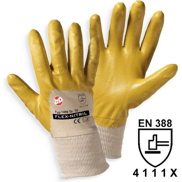 Mechanische Schutzhandschuhe Flex Profi für mehr Grip Nitril-Handschuhe für grobe Arbeiten schützen