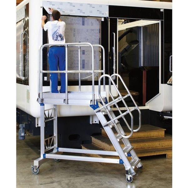 Die Podesttreppe ZARGES aus Aluminium: Optimal für ergonomisches Arbeiten Ermöglichen Sie Ihren Mita