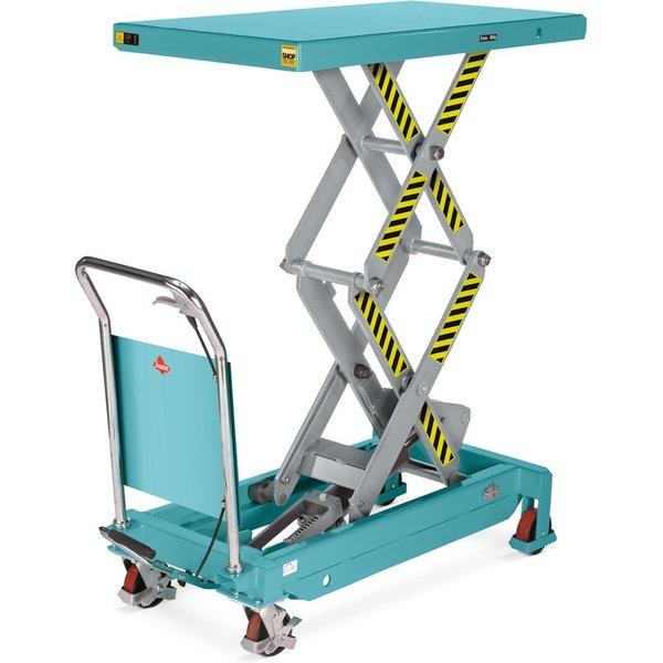 Robuster und individuell höhenverstellbarer Hubtischwagen Der Doppelscheren-Hubtischwagen Ameise® er
