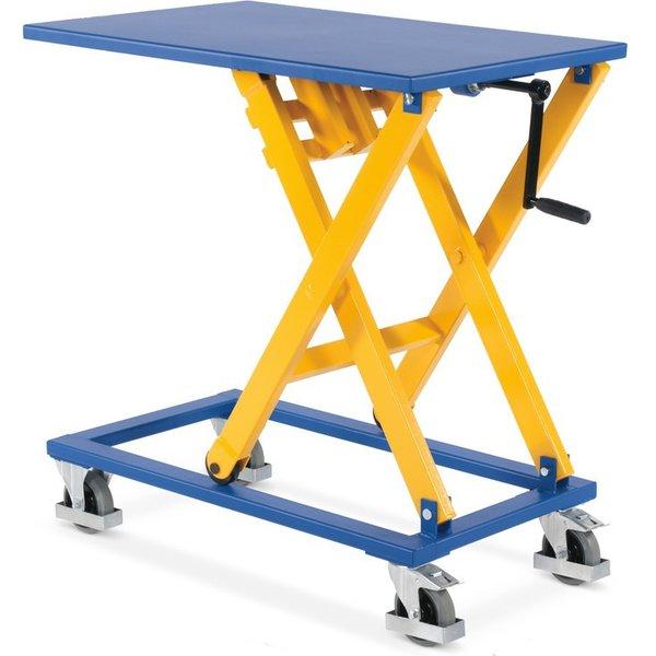 Belastbarer Spindel-Hubtischwagen Spindel-Hubtischwagen finden häufig in Handwerk und Industrie Verw