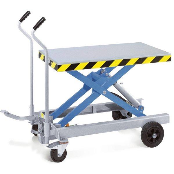 Schwere Lasten einfach bewegen mit dem Scheren-Hubtischwagen Dieser Scheren-Hubtischwagen ist ein mo