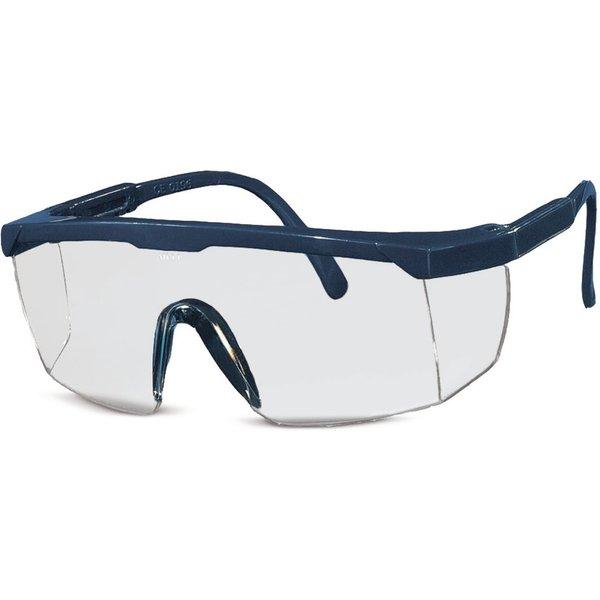 Umfassende Sicht mit der Schutz-Bügelbrille Panorama Die Panorama-Gläser dieser Schutz-Bügelbrille e