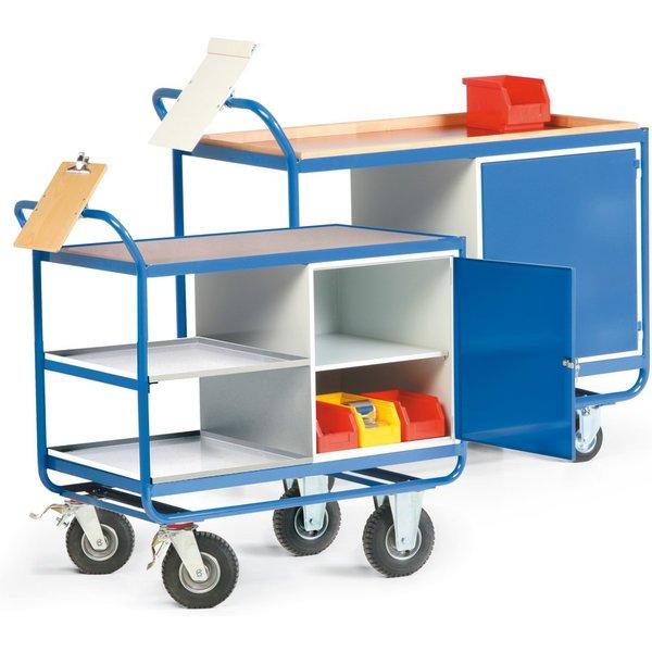 Ein Muss für jede Werkstatt - Ein Werkstattwagen Ein robuster Werkstattwagen aus Stahlrohr-Konstrukt