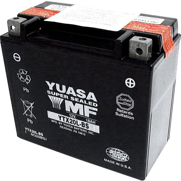 Yuasa Batterie AGM MF wartungsfrei YTX20L-BS, 12V, 18Ah