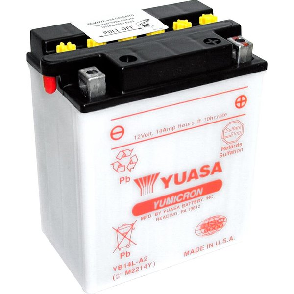 Batterie de moto Yuasa YB14L-A2 12 V 14 Ah (YB14LA2DC)