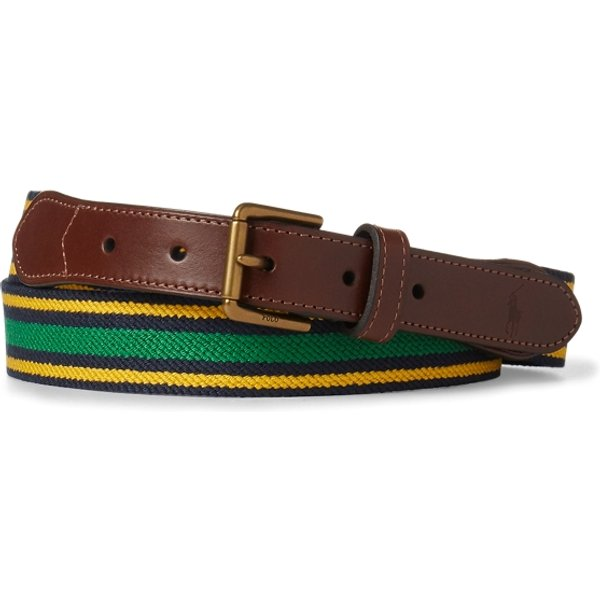 Ralph Lauren - Cinturón de sarga elástica a rayas - 1