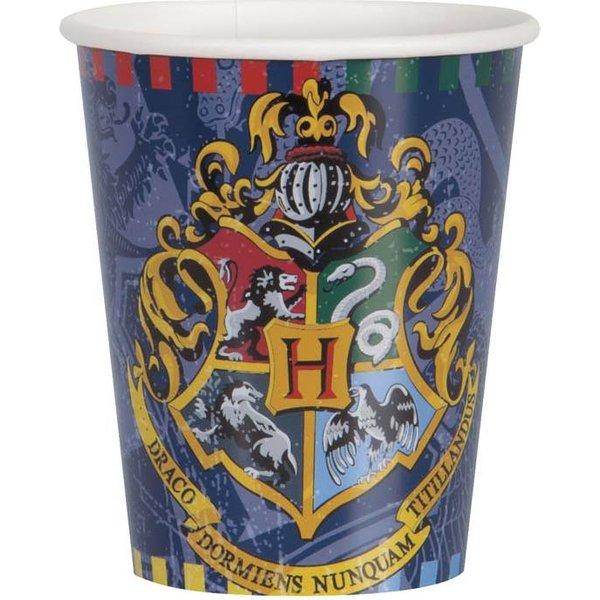 Unique Harry Potter Pappbecher 266ml 8 Stück