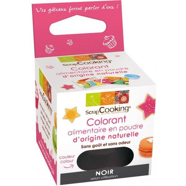 ScrapCooking colorant alimentaire naturel NOIR
