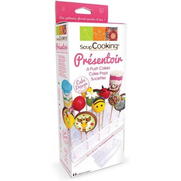 Présentoir à cake pops, sucettes et push-cakes