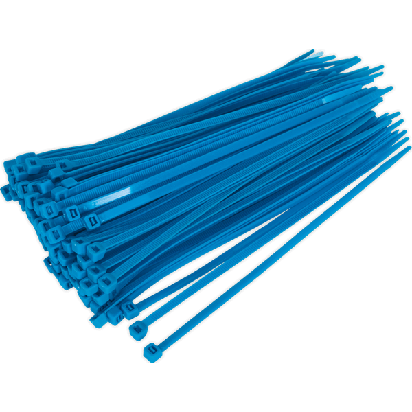 Sealey Cable Ties Blue Pack of 100 200mm 4.8mm