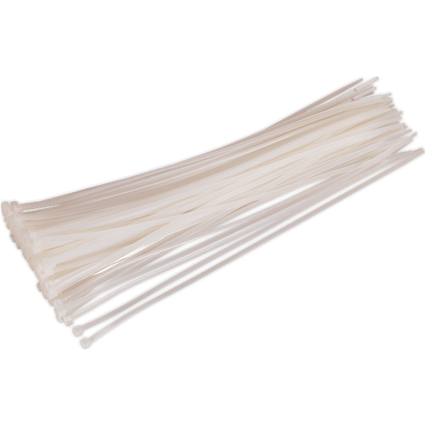 Sealey White Cable Ties 380mm 4.8mm