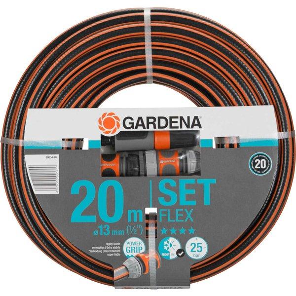 Tuyau de jardin Gardena Comfort Flex 20 m avec armatures