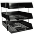 3 Black Letter Trays and Risers