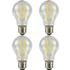4 Pack E27 Screw LED 6W Filament GLS Bulb (60W Equivalent) 806 Lumen - Warm White Clear