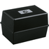 5 Star Black Card Index Box - 250 Card Capacity (152mm x 102mm)