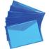 5 Star Premier A4 Translucent Blue Polypropylene Envelope Wallet (5 Pack)