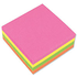 5 Star Re-Move Notes Neon Rainbow Cube Pad of 320 Sheets (75mm x 75mm)