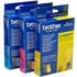 Brother LC1000 C/M/Y (LC1000RBWBP) Original Colour Ink Cartridge 3 Pack