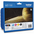 Brother LC1100BK/ LC1100C/ LC1100M/ LC1100Y Original Black & Colour 4 Ink Cartridge Pack