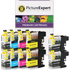 Brother LC123 Compatible Black & Colour Ink Cartridge 10 Pack