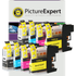 Brother LC123 Compatible Black & Colour Ink Cartridge 8 Pack