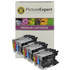 Brother LC1240 Compatible Black & Colour 12 Ink Cartridge Pack