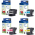 Brother LC22U Original Black & Colour ink Cartridge 4 Pack
