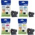Brother LC3217 Original 4 Ink Cartridge Pack (BK/C/M/Y)