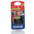 Brother MK631BZ Original P-Touch Black on Yellow Tape 12mm x 8m