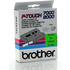 Brother TX-751 Original P-Touch Black on Green Tape 24mm x 15m