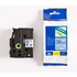 Brother TZE-561 Original P-Touch Black on Blue Laminated Tape 36mm x 8m