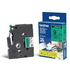 Brother TZE-721 Original P-Touch Black on Green Laminated Tape 9mm x 8m
