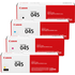 Canon 045 Original Black & Colour Toner Cartridge 4 Pack