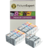 Canon BCI-3 BK, BCI-6 BK/C/M/Y Compatible Black & Colour Ink Cartridge 12 Pack