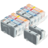 Canon BCI-3 BK, BCI-6 C/M/Y Compatible Black & Colour Ink Cartridge 10 Pack