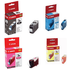Canon BCI-3e Bk/ C/ M/ Y Original Black & Colour Ink Cartridge 4 Pack