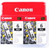 Canon BCI-6BK Original Black Ink Cartridge Twinpack