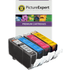 Canon CLI-521 BK/C/M/Y Compatible Black & Colour Ink Cartridge 4 Pack