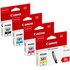 Canon CLI-581 XL (BK/C/M/Y/) Original High Capacity Colour Ink Cartridge 4 Pack