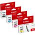 Canon CLI-581 XL (BK/C/M/Y/) Original High Capacity Colour Ink Cartridge 4 Pack
