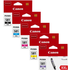 Canon CLI-581 XXL (BK/C/M/Y/PB) Original Extra High Capacity Colour Ink Cartridge 5 Pack