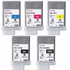 Canon PFI-102 (BK/MBK/C/M/Y) Original Black & Colour Ink Cartridge 5 Pack