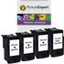 Canon PG-512 Compatible Black x 3 & CL-513 x 1 Compatible Colour Ink Cartridge 4 Pack