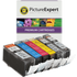 Canon PGI-520/CLI-521 Compatible Black & Colour Ink Cartridge 6 Pack (incl. Grey)