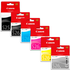 Canon PGI-525 BK/ CLI-526 BK/C/M/Y/GY Original Black & Colour Ink Cartridge 6 Pack