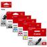 Canon PGI-550XL BK / CLI-551XL BK/C/M/Y/GY Original High Yield Black & Colour Ink Cartridge 6 Pack