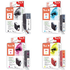 Canon PGI-5BK, CLI-8 C/M/Y Peach Compatible Black & Colour Chipped Ink Cartridge 4 Pack