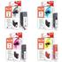 Canon PGI-5BK, CLI-8 C/M/Y Peach Compatible Black & Colour Chipped Ink Cartridge 4 Pack