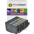Canon PGI-9 (PBK/C/M/Y/GY) Compatible Black & Colour Ink Cartridge 5 Pack